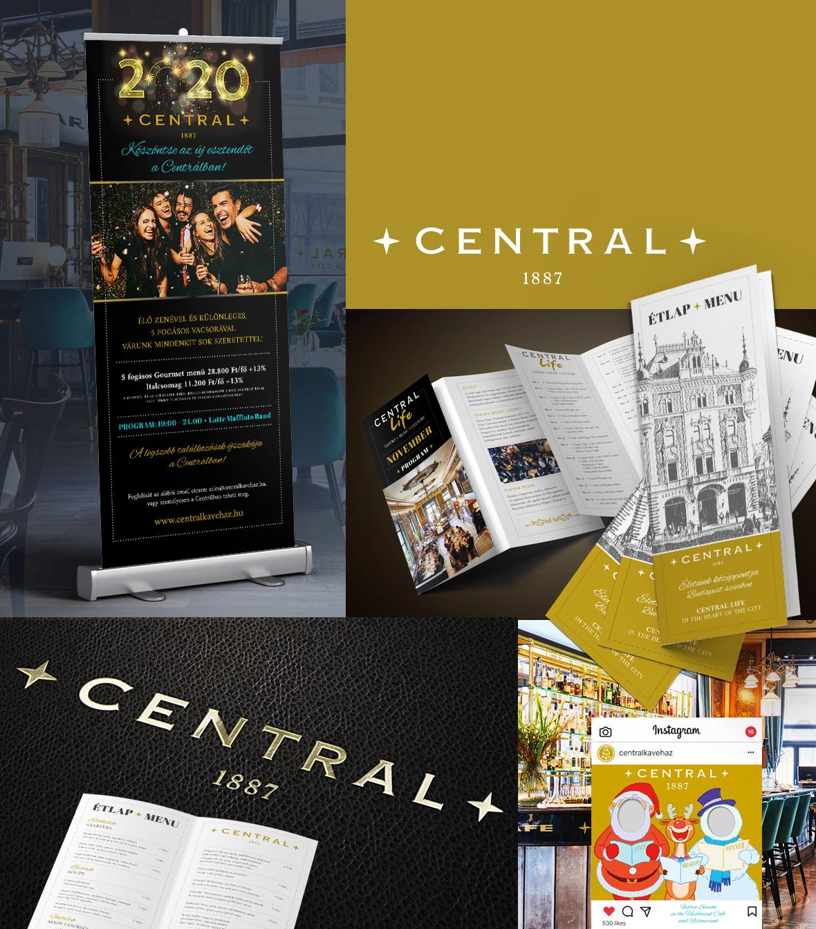Centrál Kávéház referencia munkák